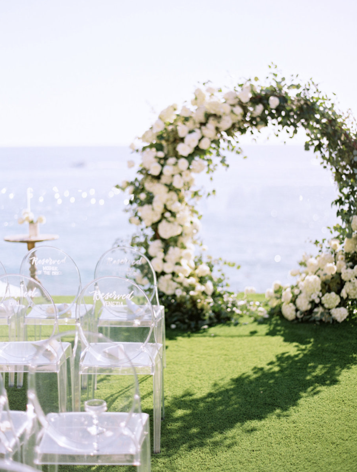 Floral Circle Arch ceremony backdrop