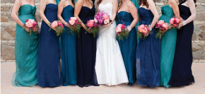 Brides in Ombre Shades of Blue