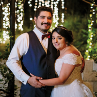 Alexandria & Julio in their Real Wedding in the Texas Wedding Guide