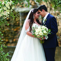Alexxis & Gerardo in their Real Wedding in the Texas Wedding Guide