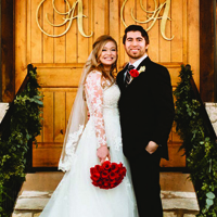 Allison & Adrian in their Real Wedding in the Texas Wedding Guide