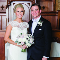 Hollie & Charles in their Real Wedding in the Texas Wedding Guide