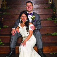 Josie & Kenneth in their Real Wedding in the Texas Wedding Guide