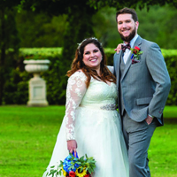 Mercedes & James in their Real Wedding in the Texas Wedding Guide