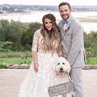 Amanda & Michael in their Real Wedding in the Texas Wedding Guide