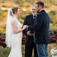 Ashley & Richard in their Real Wedding in the Texas Wedding Guide