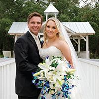Brittany & Clay in their Real Wedding in the Texas Wedding Guide