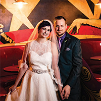 Jennifer & Brandon in their Real Wedding in the Texas Wedding Guide