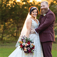 Kristin & Adam in their Real Wedding in the Texas Wedding Guide