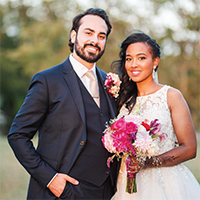 Nahla & Juan in their Real Wedding in the Texas Wedding Guide