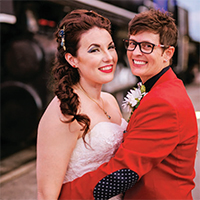 Stacy & Melissa in their Real Wedding in the Texas Wedding Guide