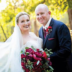 Amber & Chris in their Real Wedding in the Texas Wedding Guide