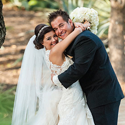 Brittany & Ernesto in their Real Wedding in the Texas Wedding Guide