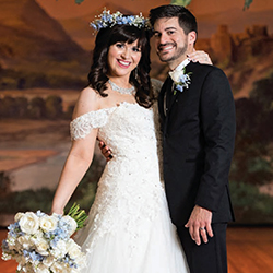 Chelsea & Nicholas in their Real Wedding in the Texas Wedding Guide