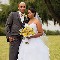 Christie & Tyrus in their Real Wedding in the Texas Wedding Guide