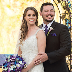 Melissa & Logan in their Real Wedding in the Texas Wedding Guide